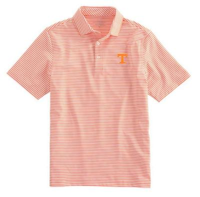 Tennessee Vineyard Vines Winstead Stripe Sankaty Performance Polo