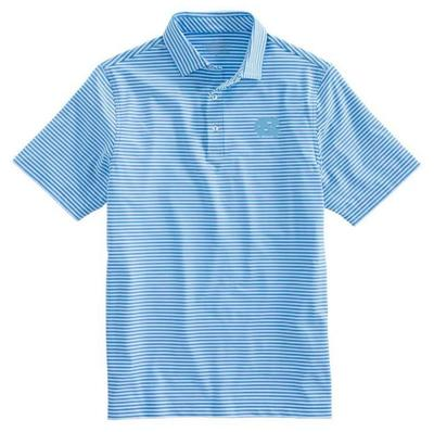 UNC Vineyard Vines Winstead Stripe Sankaty Performance Polo