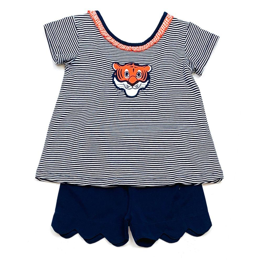 Auburn Ishtex Toddler Girl Short Set