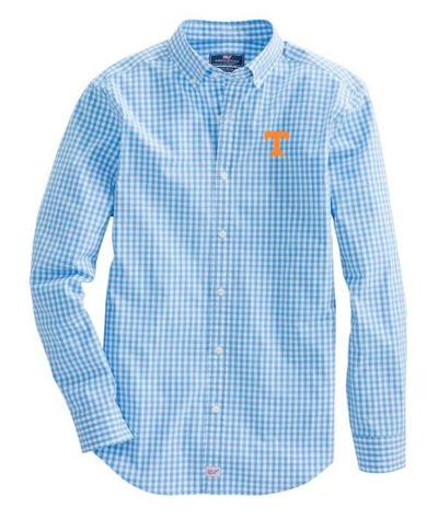 Tennessee Vineyard Vines Gingham Classic Stretch Murray Shirt