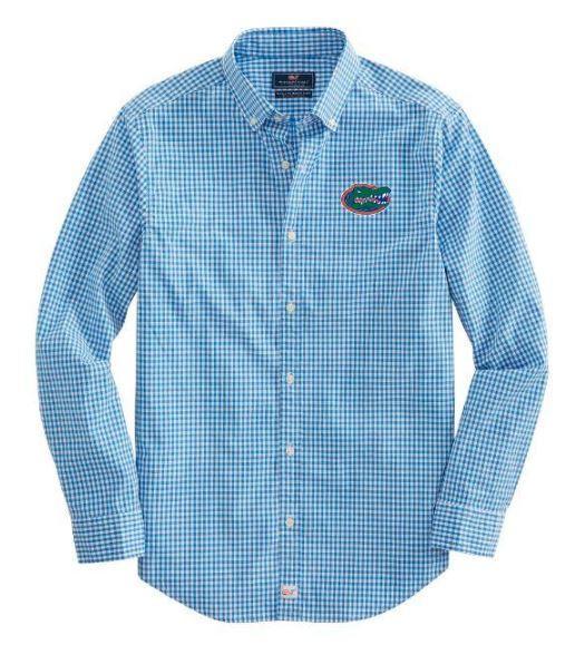 Florida Vineyard Vines Gingham Classic Stretch Murray Shirt