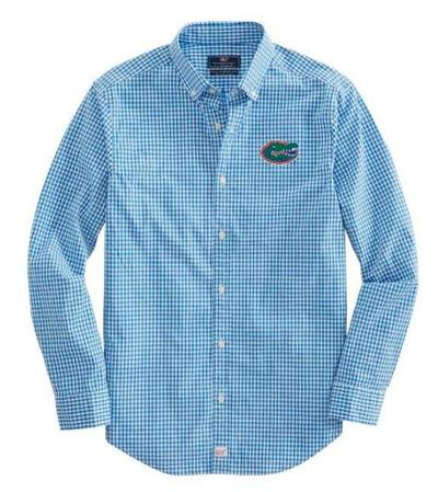 Florida Vineyard Vines Gingham Classic Stretch Murray Shirt