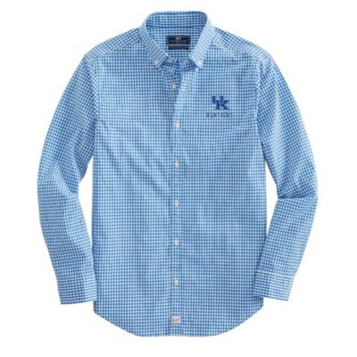 Kentucky Vineyard Vines Gingham Classic Stretch Murray Shirt