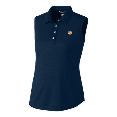 Auburn Cutter And Buck Women's Sleeveless Clare Polo