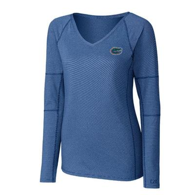 Florida Cutter And Buck Women's Victory Neck Long Sleeve Tee