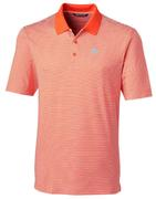 Clemson Cutter And Buck Tonal Stripe Forge Polo