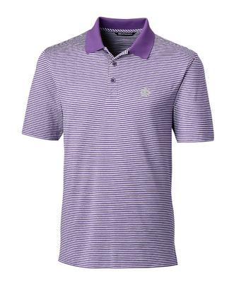 Clemson Cutter And Buck Tonal Stripe Forge Polo MAJESTIC