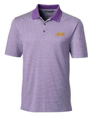 LSU Cutter And Buck Tonal Stripe Forge Polo