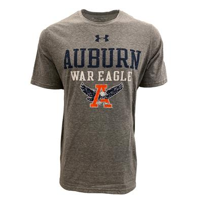 Auburn Under Armour Vault A with Eagle Tri-blend Tee Shirt