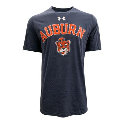 Auburn Under Armour Cartoon Tiger Arch Tri-blend Tee