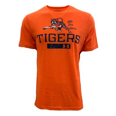 Auburn Under Armour Vault Leaping Tiger Tri-blend Tee