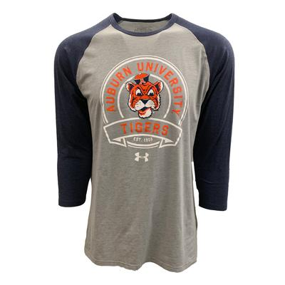 Auburn Under Armour Vault Logo Baseball Sleeve Tee