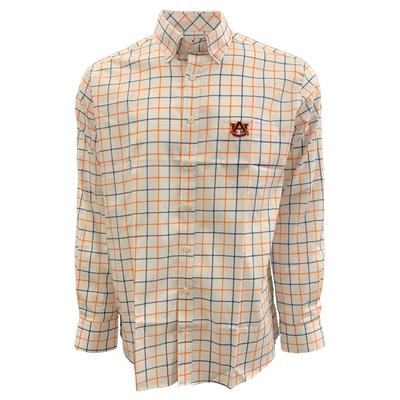 Auburn Tigers Frederick Martin Plaid Dress Shirt
