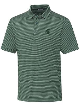 Michigan State Cutter & Buck Forge Pencil Stripe Polo