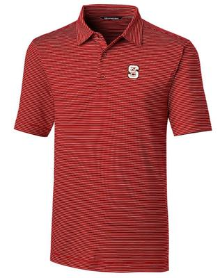 NC State Cutter & Buck Forge Pencil Stripe Vault Polo