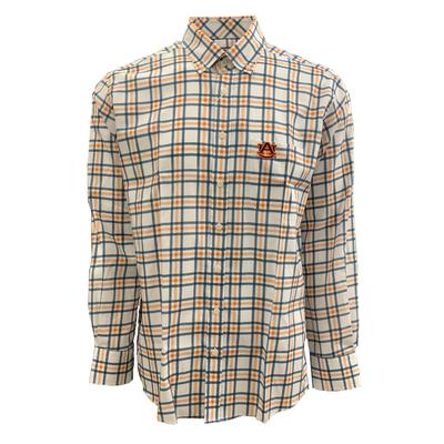 Auburn Tigers Frederick Martin Jax Plaid Dress Shirt