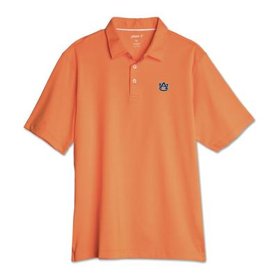 Auburn Johnnie-O Men's Pinstripe Albatross Polo