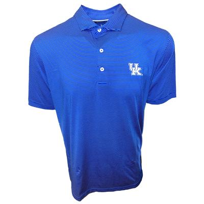 Kentucky Johnnie-O Men's Pinstripe Albatross Polo