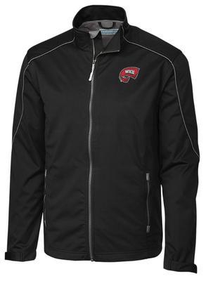 Western Kentucky Cutter & Buck Opening Day Weathertec Softshell Jacket BLACK
