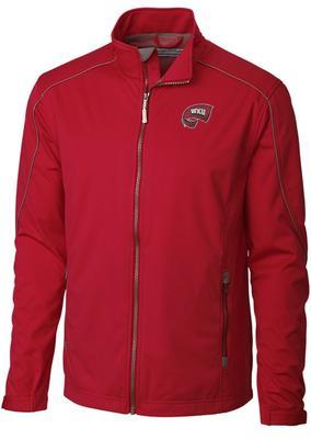 Western Kentucky Cutter & Buck Opening Day Weathertec Softshell Jacket CARD_RED