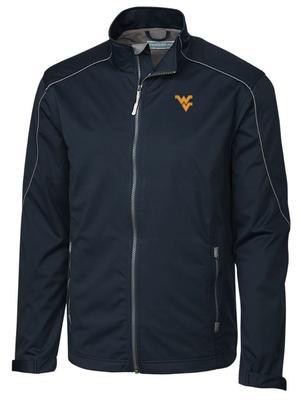 West Virginia Cutter & Buck Opening Day Weathertec Softshell Jacket