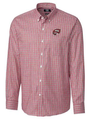 Western Kentucky Cutter And Buck Lakewood Check Dress Shirt