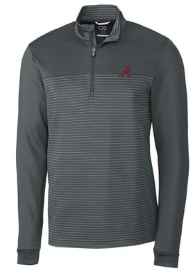 Alabama Cutter & Buck Traverse Stripe Half Zip Pullover
