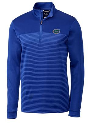 Florida Cutter & Buck Traverse Stripe Half Zip Pullover