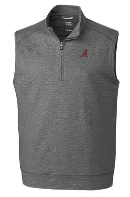 Alabama Cutter & Buck Shoreline Half Zip Vest