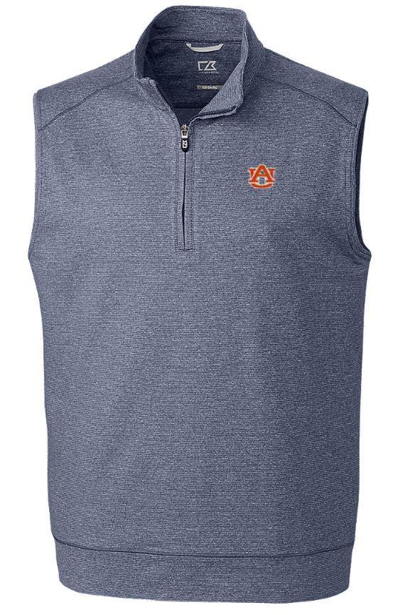 Auburn Cutter & Buck Shoreline Half Zip Vest