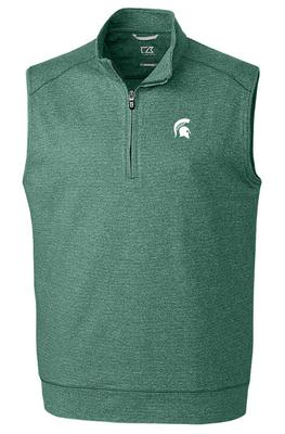Michigan State Cutter & Buck Shoreline Half Zip Vest