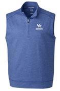 Kentucky Cutter & Buck Shoreline Half Zip Vest