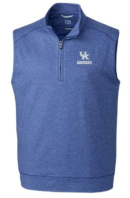Kentucky Cutter & Buck Shoreline Half Zip Vest