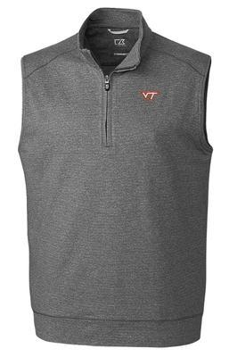 Virginia Tech Cutter & Buck Shoreline Half Zip Vest