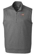 Virginia Tech Cutter & Buck Shoreline Half Zip Vest