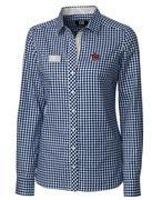 Auburn Cutter & Buck Women's Gingham Buttondown Shirt