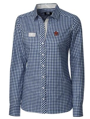 Auburn Cutter & Buck Women's Gingham Buttondown Shirt
