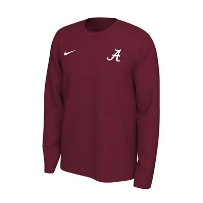 Alabama Nike Long Sleeve Dri-FIT Logo Tee