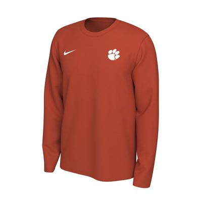 Clemson Nike Long Sleeve Dri-FIT Logo Tee