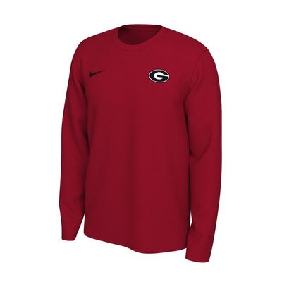 Georgia Nike Long Sleeve Dri-FIT Logo Tee