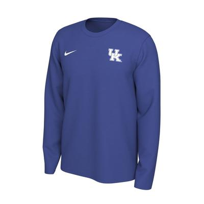 Kentucky Nike Long Sleeve Dri-FIT Logo Tee