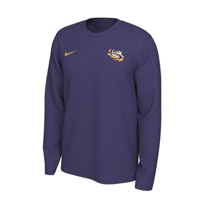 LSU Nike Long Sleeve Dri-FIT Logo Tee