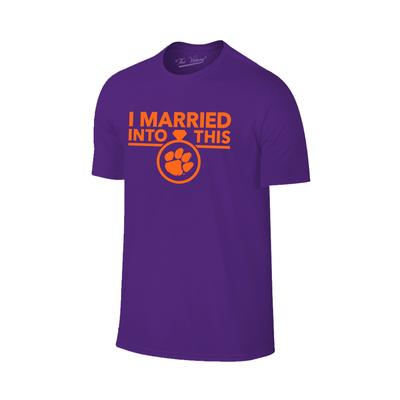 Clemson Married Into This T-Shirt PURPLE