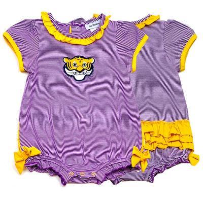 LSU Ishtex Infant Girl Romper