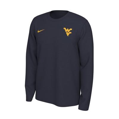 West Virginia Nike Long Sleeve Dri-FIT Logo Tee