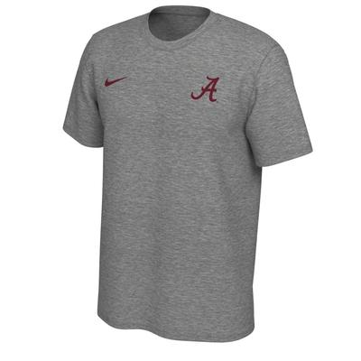 Alabama Nike Short Sleeve Dri-FIT Logo Tee DK_GREY_HTHR