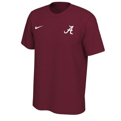 Alabama Nike Short Sleeve Dri-FIT Logo Tee TEAM_CRIMSON