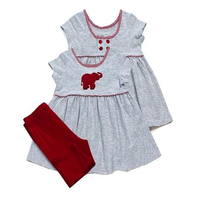 Alabama Ishtex Girl Elephant Capri Set