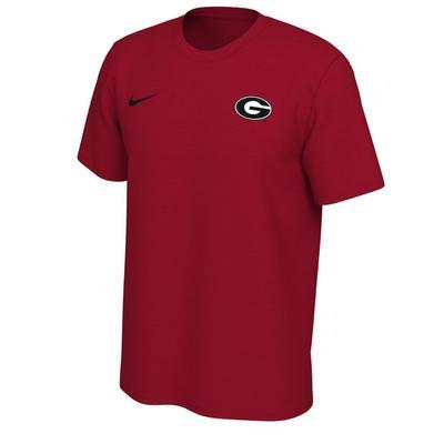 Georgia Nike Short Sleeve Dri-FIT Logo Tee