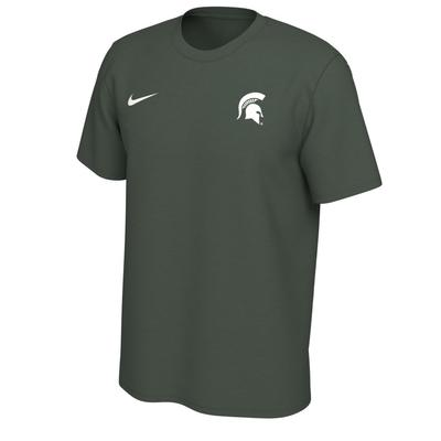 Michigan State Nike Short Sleeve Dri-FIT Logo Tee